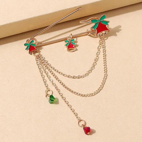 Serie de navidad color campana cadena borla broche al por mayor nihaojewelry NHPS424898's discount tags