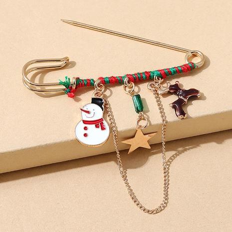 Serie navideña muñeco de nieve alce broche de cadena al por mayor nihaojewelry NHPS424897's discount tags