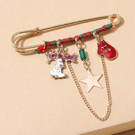 Broche de cadena de alce de guante de serie navideña al por mayor nihaojewelry NHPS424895's discount tags