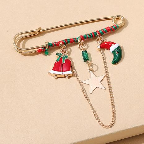 Serie de navidad campana luna cadena broche al por mayor nihaojewelry NHPS424894's discount tags