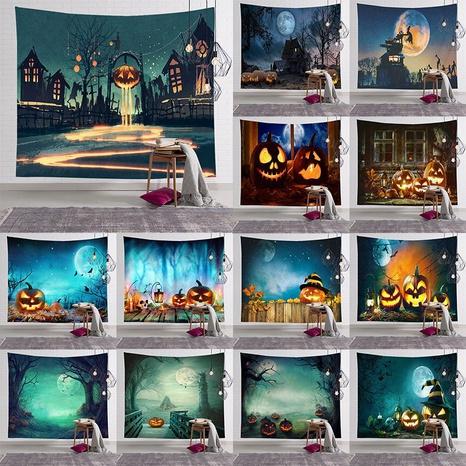 Halloween watercolor pumpkin bedroom room decoration tapestry wholesale nihaojewelry  NHJW424547's discount tags