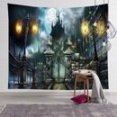 halloween skull pumpkin print bedroom wall decoration tapestry wholesale nihaojewelry NHJW424550