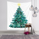 Christmas watercolor tree snow view print wall decoration tapestry wholesale nihaojewelry  NHJW424563