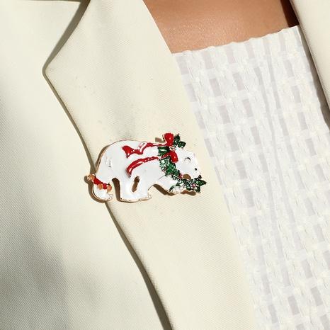 Broche de oso polar con lazo de aleación de Navidad al por mayor Nihaojewelry NHKQ424626's discount tags