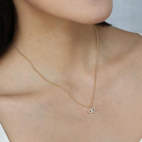 Moda creativa Diamante Diablo Ojo Colgante Collar de aleación al por mayor Nihaojewelry NHDB424694's discount tags