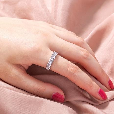 anillo de cobre de circón cuadrado de moda simple al por mayor nihaojewelry NHDB424711's discount tags