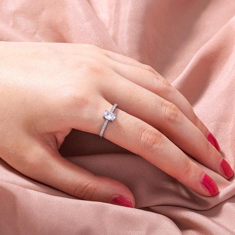 anillo de cobre de nudo ovalado de circón microincrustado ajustable de apertura simple al por mayor nihaojewelry NHDB424712's discount tags