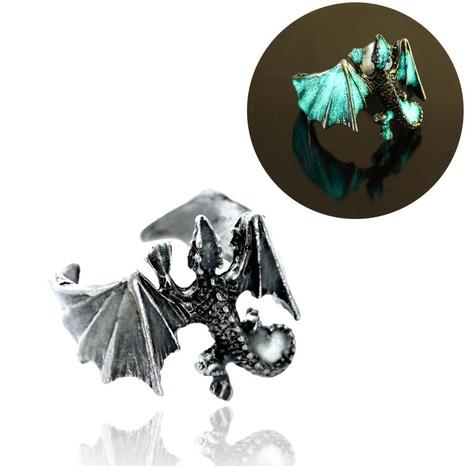anillo de cobre de apertura de pterodáctilo luminoso irregular retro al por mayor nihaojewelry NHDB424718's discount tags