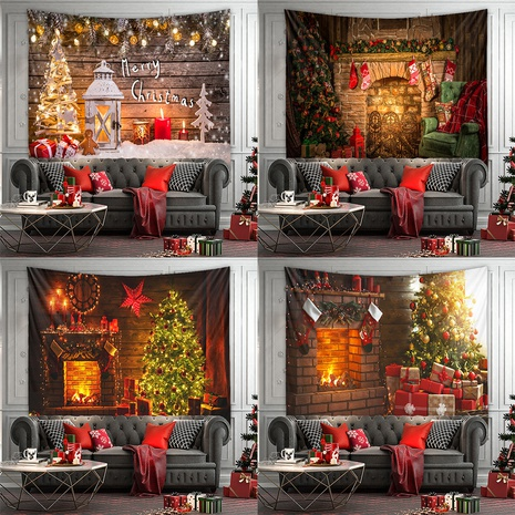 Fashion Christmas Series Tapestry Tree Home Decoration Background Cloth Wholesale Nihaojewelry NHZAJ425051's discount tags