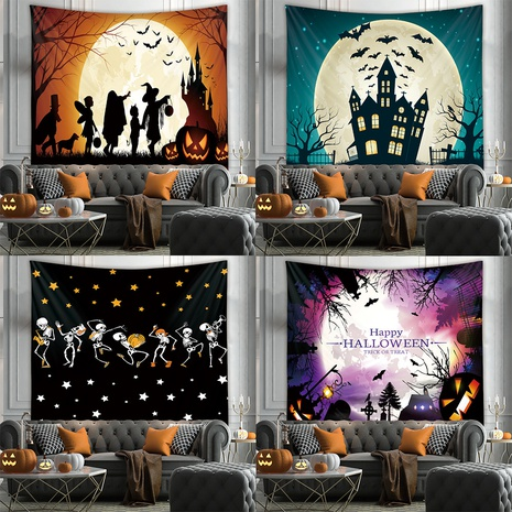 Halloween room wall decoration background cloth fabric painting tapestry wholesale nihaojewelry NHZAJ425087's discount tags