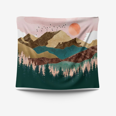 Mountain Painting Printing Decoration Tapestry Wholesale Nihaojewelry  NHZAJ425090's discount tags