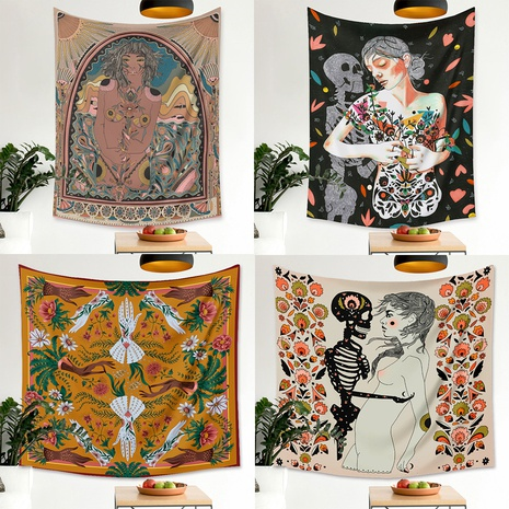 new flower girl skull printing home decoration tapestry wholesale Nihaojewelry  NHZAJ425093's discount tags