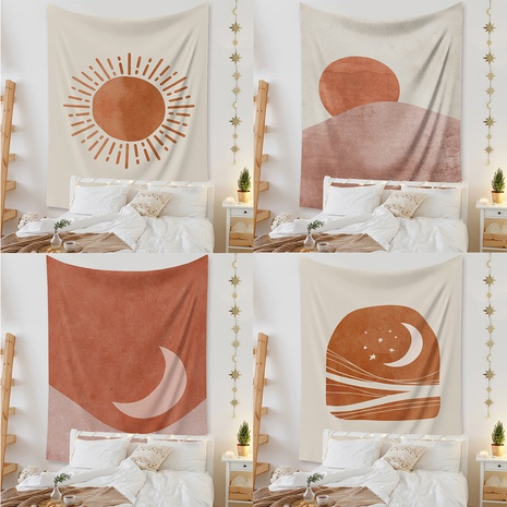 fashion bohemian contrast color sun moon tapestry decoration cloth wholesale nihaojewelry NHZAJ425095's discount tags