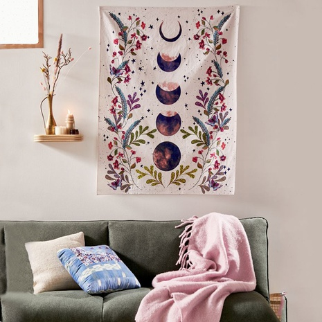 vintage new moon flower tapestry home bedroom decoration background cloth wholesale nihaojewelry NHZAJ425097's discount tags