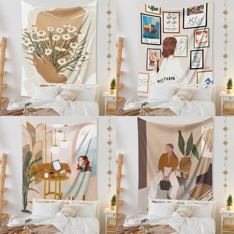 Simple Figure Home Printing Room Decoration Tapestry Wholesale Nihaojewelry  NHZAJ425101's discount tags