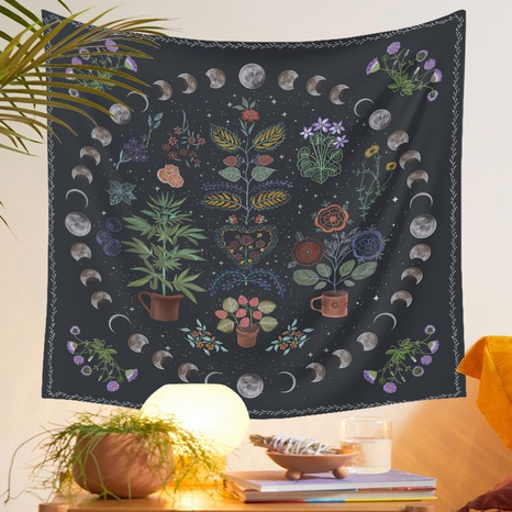 vintage moon phase tarot tapestry psychedelic tapestry background cloth wholesale nihaojewelry NHZAJ425128's discount tags