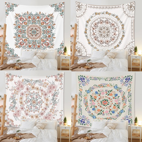 Bohemian Floral Tapestry Room Decorative Background Cloth Wholesale Nihaojewelry NHZAJ425130's discount tags