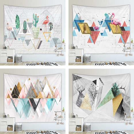 fashion geometric contrast color tapestry hanging background cloth wholesale nihaojewelry NHZAJ425133's discount tags