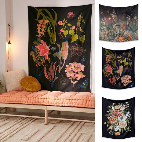 vintage flower series tapestry decoration background wall wholesale nihaojewelry NHZAJ425134's discount tags