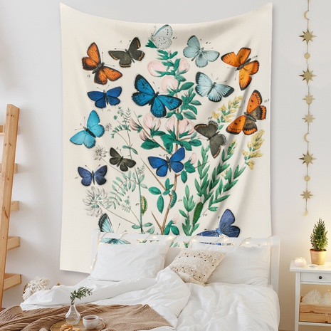 bohemian butterfly flower tapestry room decoration background cloth wholesale nihaojewelry NHZAJ425135's discount tags