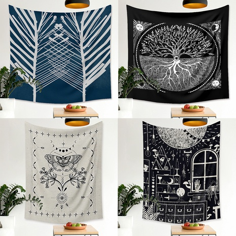 ethnic style tree butterfly pattern room decoration tapestry wholesale nihaojewelry  NHZAJ425136's discount tags