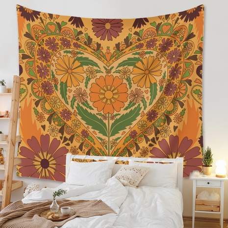 Bohemian style psychedelic flower printed tapestry wholesale Nihaojewelry NHZAJ425139's discount tags