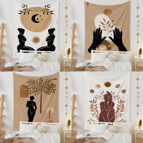 Nordic figure tapestry home background decoration wholesale Nihaojewelry NHZAJ425152's discount tags