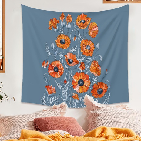 vintage tapestry background art flower painting hanging cloth wholesale nihaojewelry NHZAJ425153's discount tags
