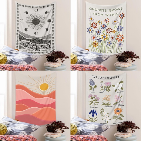 simple flower painted room decoration tapestry wholesale nihaojewelry  NHZAJ425154's discount tags