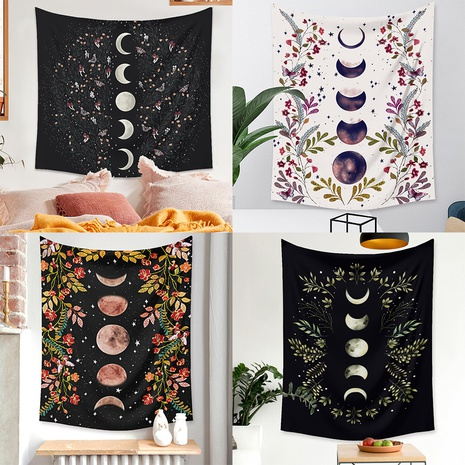 Bohemian style moon phase pattern room decoration tapestry wholesale nihaojewelry  NHZAJ425158's discount tags