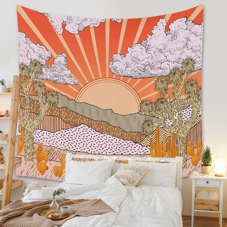 bohemian sunrise printing tapestry room decoration wholesale Nihaojewelry  NHZAJ425162's discount tags