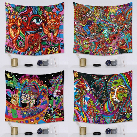 punk hippie series printed tapestry bedroom hanging cloth wholesale Nihaojewelry  NHZAJ425164's discount tags