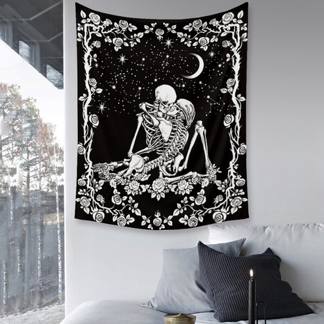 Skull printing home bedroom decoration background cloth wholesale Nihaojewelry  NHZAJ425167's discount tags