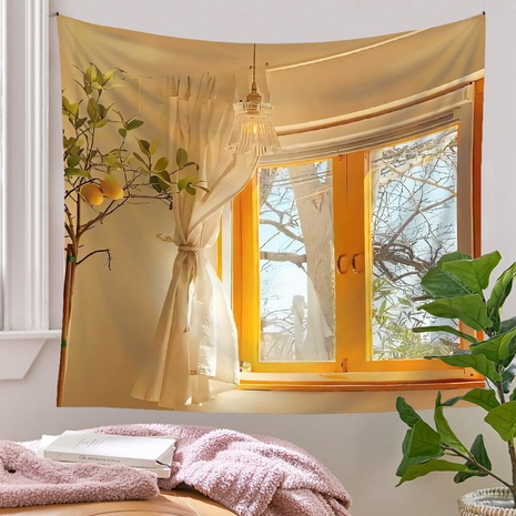 bohemian style simulation window room decoration tapestry wholesale nihaojewelry  NHQYE425172's discount tags