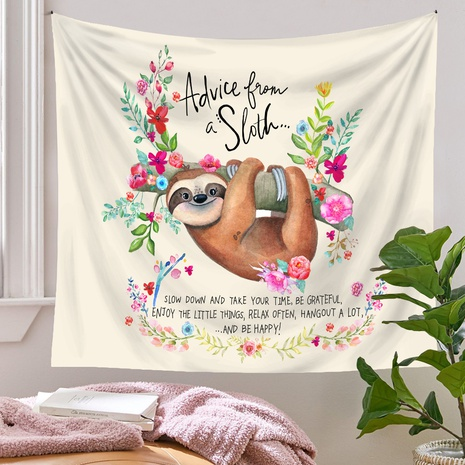 Bohemian style sloth pattern room decoration tapestry wholesale nihaojewelry  NHQYE425176's discount tags