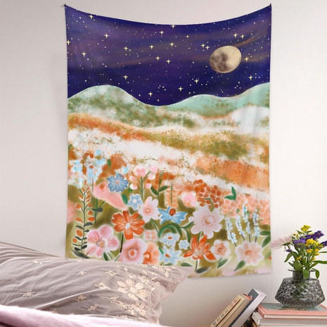 Bohemian style wall moon phase night view pattern tapestry wholesale nihaojewelry  NHQYE425177's discount tags