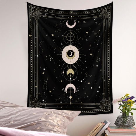 Bohemian style psychedelic moon phase diagram tapestry wholesale nihaojewelry  NHQYE425178's discount tags