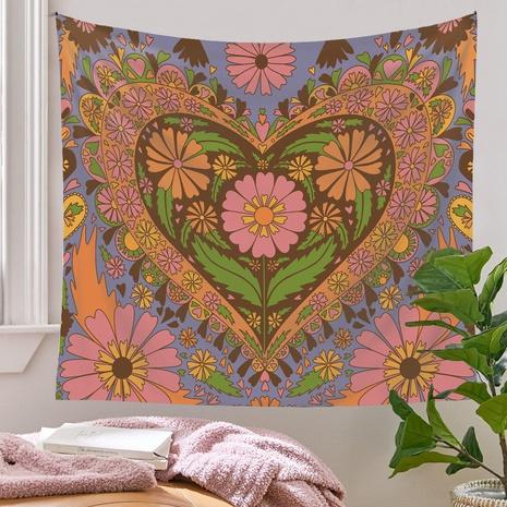 Bohemian style psychedelic flower heart pattern mandala tapestry wholesale nihaojewelry  NHQYE425181's discount tags