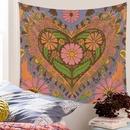 Bohemian style psychedelic flower heart pattern mandala tapestry wholesale nihaojewelry  NHQYE425181