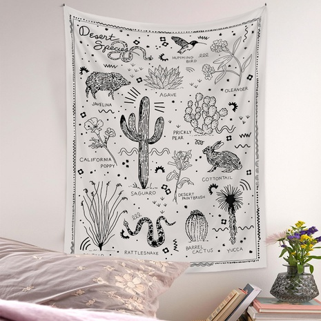 bohemian style wild animals plants pattern room decoration tapestry wholesale nihaojewelry  NHQYE425183's discount tags