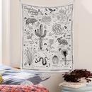 bohemian style wild animals plants pattern room decoration tapestry wholesale nihaojewelry  NHQYE425183