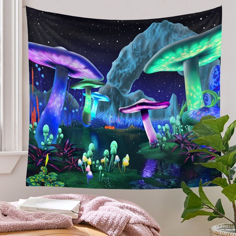 Bohemian style psychedelic mushroom pattern tapestry wholesale nihaojewelry  NHQYE425185's discount tags