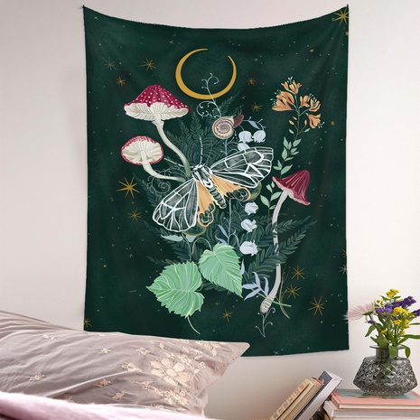 Bohemian Tapestry Room Decoration Wall Cloth Flower Jungle Painting Wholesale Nihaojewelry NHQYE425186's discount tags