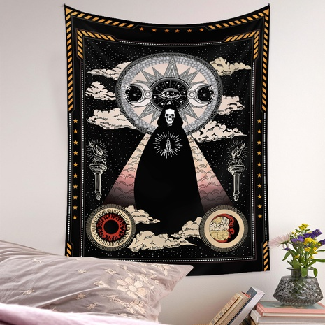 vintage tapestry room decoration skull pattern hanging cloth wholesale nihaojewelry NHQYE425187's discount tags