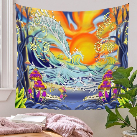 Bohemian Tapestry Room Decoration Wall Cloth Ocean Sun Painting Wholesale Nihaojewelry NHQYE425188's discount tags