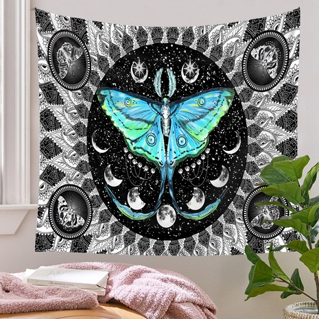bohemian style color butterfly plants pattern room decoration tapestry wholesale nihaojewelry  NHQYE425189's discount tags