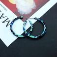 NHOM2054301-Blue-and-green-circle-earrings-3.9CM