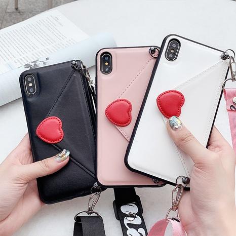 Korean envelope heart card lanyard mobile phone case wholesale Nihaojewelry  NHKAT425606's discount tags