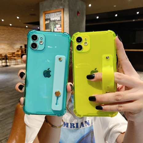 fluorescent color TPU bracket wrist strap mobile phone case wholesale Nihaojewelry NHKAT425608's discount tags