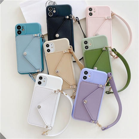 candy color card case Apple mobile phone protective shell wholesale Nihaojewelry NHKAT425609's discount tags